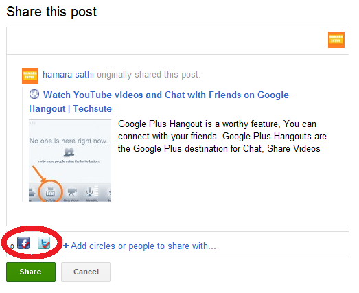 How to Post On Facebook and Twitter from Google Plus