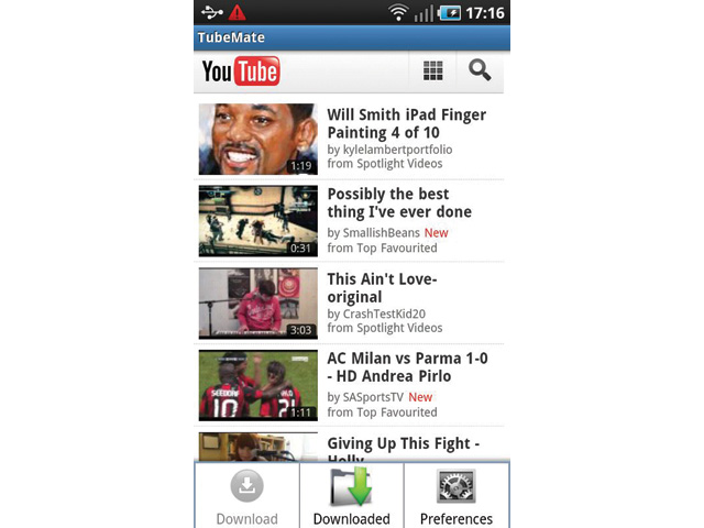 download HD YouTube videos Tubemate