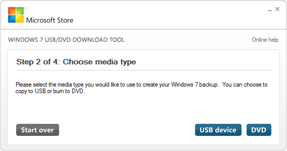 Windows 7 USB DVD TOOL