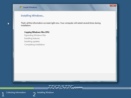 Windows 8 Installation Process