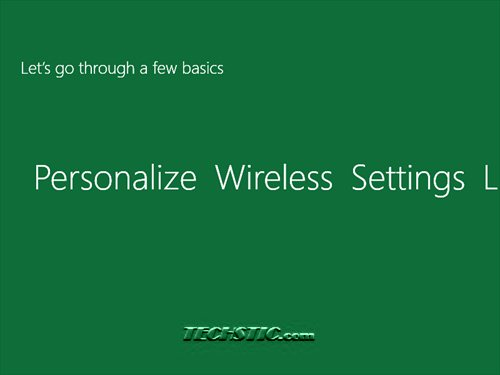 Windows 8 Wireless setting