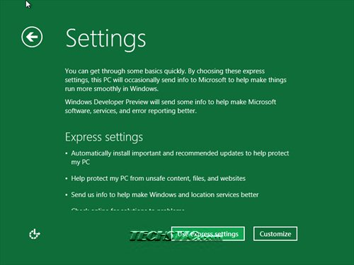 Windows 8 General Setting