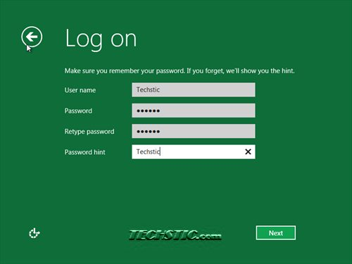 Windows 8 User Account Settings