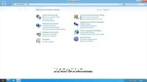 Windows 8 Control Pannel