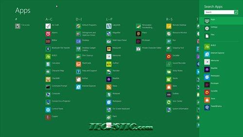 Windows 8 Search Option