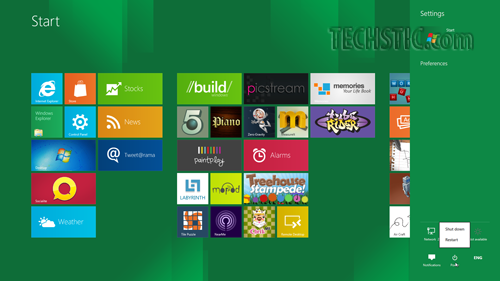 Log Off Windows 8