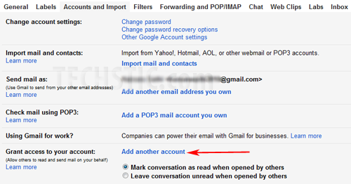 Gmail Accounts and Import Setting