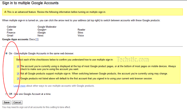Multiple Google Account