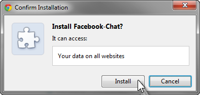 Facebook chat installed
