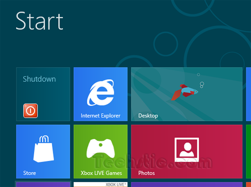 How to Add Metro Tiles for Shutdown, Restart and Log Off in Windows 8