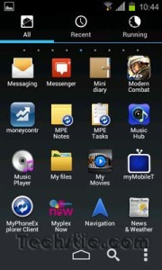 Go Launcher Ice Cream Sandwich Theme App Drawer