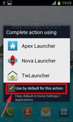 How do you change a default application in Android Ice Cream Sandwich?