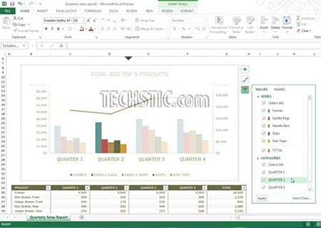 Chart Filters Excel 2013 What's New in Microsoft Excel 2013?