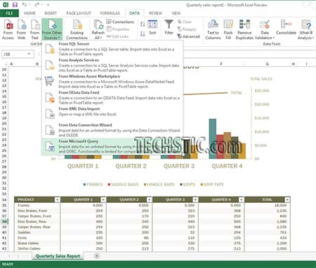 Data Sources Excel 2013