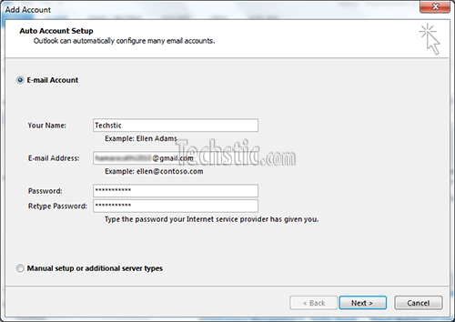 Outlook 2013 Email Setup