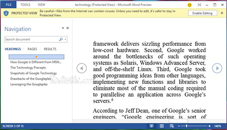 pdf reader in word 2013