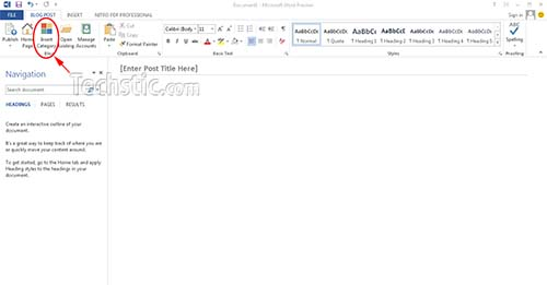 Create WordPress Post in Microsoft Word 2013