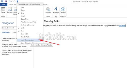 Embed Video In Word 2013