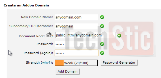 add domain in hostgator