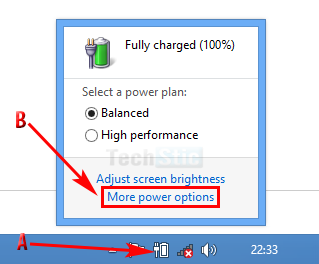 Power Option in Windows 8