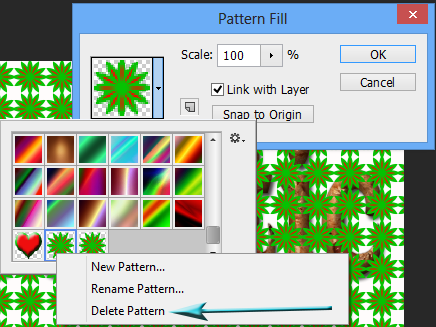 Delete Pattern in Photoshop