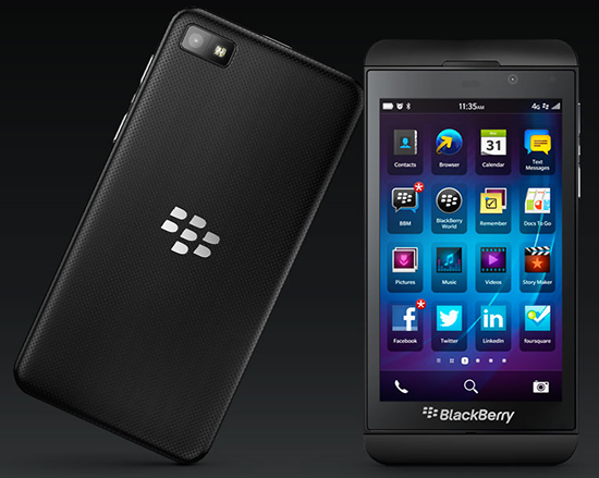 Blackberry Z10 Screen