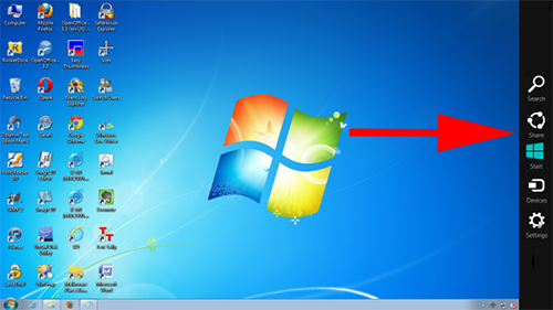 How to Add Windows 8 Charms bar in Windows 7, Vista or XP