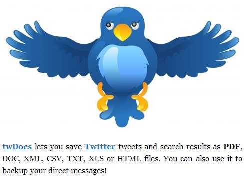 Create Backup of Your Tweets