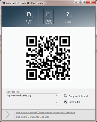 Scan QR Codes from PC