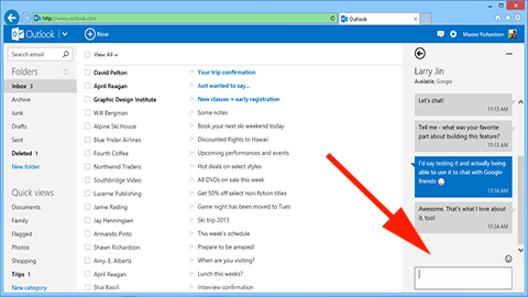 Add Google Talk to Outlook.com
