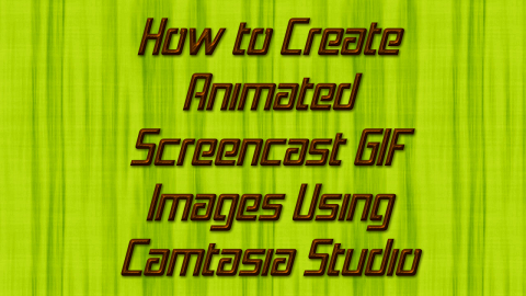 Create Animated GIF Screencast