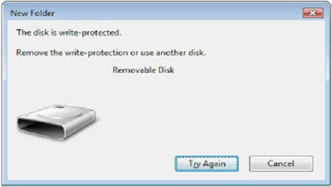 USB Pen Drive Write Protection Errors
