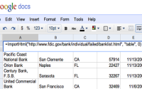 Import Web Data into Google Docs