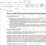 Add Watermark in Microsoft Word