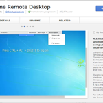 Google Chrome to remotely access your computer