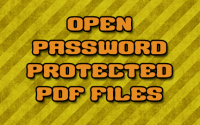 Open Password Protected PDF Files