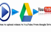 video to YouTube from Google drive