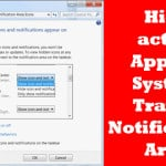 Hide active Apps in System Tray