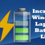 Increase Windows Laptop Battery Life